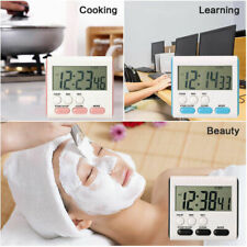 Magnetic Digital Kitchen Timer LCD Clock Countdown Cooking Multi Purpose Alarm