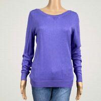 NEW Worthington Boat Neck Pullover Sweater MEDIUM Lilac Aster Purple Cotton