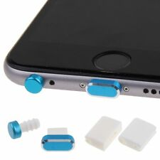 4in1 Metal Earphone Jack & Charger Port Anti Dust Plug Cap + Storages for iPhone
