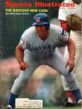 1969 Sports Illustrated Magazine,Baseball, Ron Santo,Chicago Cubs GOOD BACK RIP