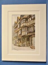 OLD HOUSES IN HOLBORN AND ENTRANCE TO STAPLE INN LONDON VINTAGE DOUBLE MOUNTED