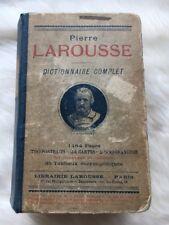 Pierre Larousse Dictionnaire Complet 1904 Antique