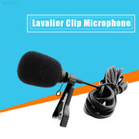 C5A5 External Clip-on Lapel Tie Lavalier Microphone 3.5mm Jack For iPhone PC
