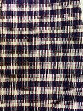 Longaberger Jw Plaid Fabric Liner 4 1996 Mini Market Basket J.W. Club Miniature