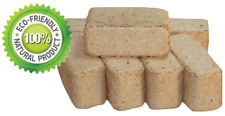 12 Pack Wood Briquettes Natural Eco-Friendly Firepits Fuel Stoves Fireplaces