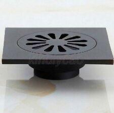 Black Oil Rubbed Square Floor Drain Bathroom Shower Floor Drain Strainer Khr009