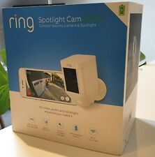 Ring Spotlight Cam White - Smart Security Camera with Built-in Wi-Fi