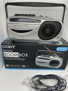 COBY MONO BOOMBOX With Box CXC-350 Tested And Works