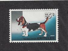 Dog Art Full Body Portrait Postage Stamp BASSET HOUND Netherlands Antilles MNH