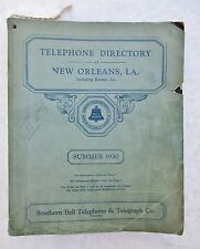 1930 Original NEW ORLEANS LOUISIANA TELEPHONE DIRECTORY Residents + Business