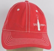 Red Coca-Cola Drink Brand Logo 125 Years Fizzy Baseball hat cap Adjustable