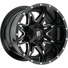 20x10 Fuel Lethal Rims Black Offroad Wheels 35 MT Tires Fit Lifted Chevy Ford 22
