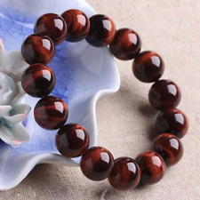 Natural AAA+ 8mm Red Tiger Eye Stone Round Beads Stretchy Bracelet Jewelry 7.2""