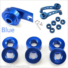 One Pair DIY Blue Vehicles SUV Glass Window Winder Crank Handle Knob Accessories