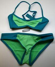 NWT ~ Adore Me Swimwear Green Teal Bikini Medium Bottoms & Small Top Swim Suit