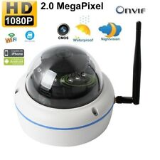 Wireless HD 1080P 2.0MP Onvif Dome Outdoor Night Network Security IP Camera