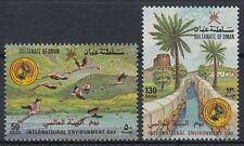 Oman 1987 ** mi.305/06 protezione dell'ambiente Environmental Protection Flamingos fauna