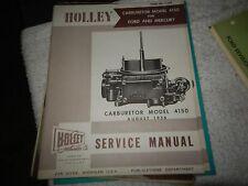 AUGUST 1956 FORD MERCURY THUNDERBIRD HOLLEY 4150 CARBURETOR SERVICE MANUAL