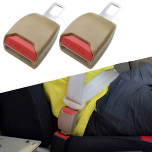 2pcs Car Auto Seat Belt Safety Buckle Clip Adjustable Extension Extender Yellow