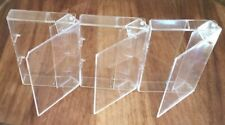 3 x AUDIO MUSIC CASSETTE TAPE CASES / EMPTY BOXES CLEAR TRANSPARENT - QTY 3 NEW