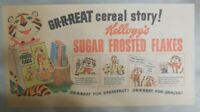 Kellogg's Cereal Ad: Tony The Tiger Cereal Story 1950's Size: 7.5 x 15 inches