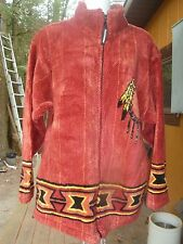 Black Mountain Outdoor Women Fleece Zip Up Jacket Buffalo Print Small Dream Catc