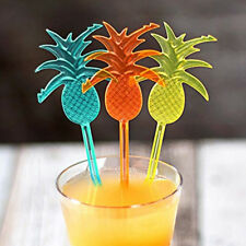 10PC Pineapple Cocktail Picks Stirrers Swizzle Sticks Party Drink Mixer Bar Tool