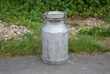 Vintage old aluminium milk churn milkchurn milking pot 25L churn Free Postage
