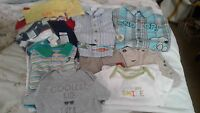 Boys 6-12M Spring Summer Clothing Lot 11 Pcs Graphic Tops Shorts Gap Place 3 NWT