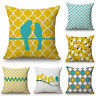 Geometric Bird Throw Cushion Cover Boho Stripe Sofa Bed Waist Decor Pillow Case