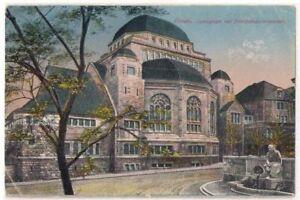 Judaica Old Postcard Jewish Synagogue Essen Germany