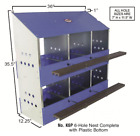 6 Hole Hen Chicken Nesting Box with Plastic Bottom Nest Laying Box Poultry Nests