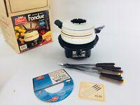 VTG Regal Automatic Electric Fondue Cooker Set Mardi Gras W/Forks SilverStone