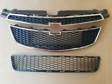 fits 2011-2014 CHEVY CRUZE w/ RS PKG Front Bumper Upper & Lower Grille 3PC SET