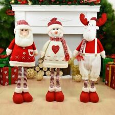 Doll Christmas Santa Claus Snowman Ornament Elk Toys Xmas Figurines Gift Kids