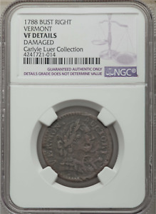 1788 Vermont Colonial Copper, Bust Right, NGC VF Details, ex Carlyle Luer Coll.