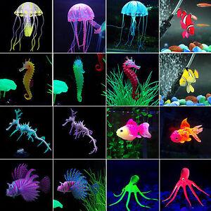 Artificial Fake Jellyfish Octopus Plastic Decor Fish Tank Aquarium Accessories 、