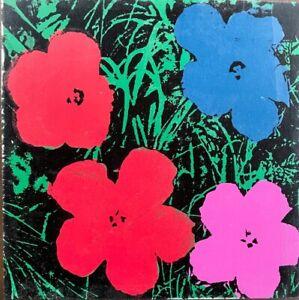 ANDY WARHOL -- A 1964 ORIGINAL SILKSCREEN ON CANVAS SIGNED - FLOWERS ap 4/25