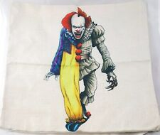IT Pennywise Pillow Case Cover Clown Stephen King Horror Cult Classic Halloween