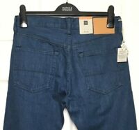 M&S Marks W32/L31 Mens Mid Blue Luxe Selvedge Cotton Slim Fit Leg Jeans BNWT