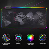Large Gaming Mouse Pad RGB Backlight LED Computer Desk Mice Mat For PC Laptop HQ