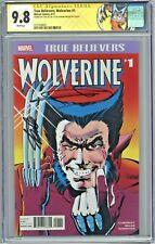 True Believers Wolverine #1 CGC 9.8 SS 2x Stan Lee Frank Miller Limited Series