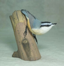 Red-breasted Nuthatch Original Bird Wood Carving