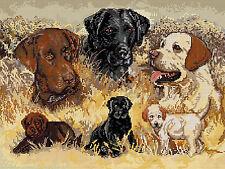 Cross Stitch Kit ~ Candamar Puppy Dog Labrador Retriever Dogs #51318
