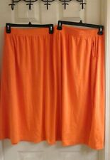 Orange Women's plus size 6XP skirt polyester blend, NWT stretch waist LBW Knits