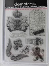 1 x Clear Stamp Sheet with English & French Postage Memorabilia 140mmx180mm 2019