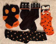 4 Pairs Girls Halloween Socks