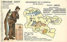 EMULSION SCOTT,Département de la Moselle,Metz carte Publicitaire.(36)