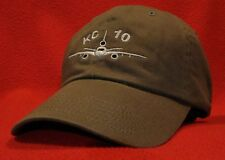 USAF KC-10 Extender ball cap low-profile embroidered aviator hat OD Green