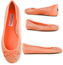 Jimmy Choo Walsh Perforated Flats Ballet Pump Neon Pink 37.5 Ballerina 7.5 Shoe